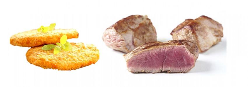 Viandes cuites ou panées