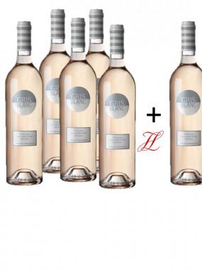 ***LOT ROSE GRIS BLANC 75 CL 5 bouteilles + 1 gratuite